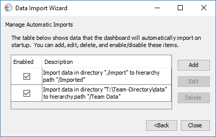 Importing and Export Data